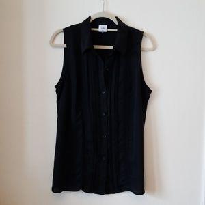 CAbi black sleeveless blouse